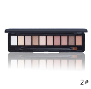 Shimmer Matte Natural Fashion Eye Shadow Make Up Light Eyeshadow 10 Colors NOVO Eye Makeup 1PC