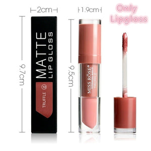 MISS ROSE Glitter Liquid Lipstick Matte Waterproof Long Lasting Lip Gloss Blue Purple Wine Red Color Shimmer LipGloss Makeup Tools