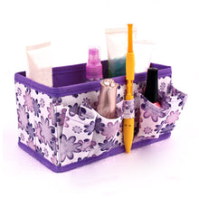Load image into Gallery viewer, Non-woven Folding Cosmetic Storage Box Make Up Organizer Desktop Dressing Jewelry Storage Box Small Bag Makeup Case