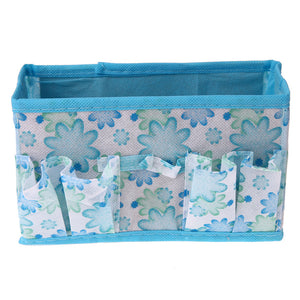 Non-woven Folding Cosmetic Storage Box Make Up Organizer Desktop Dressing Jewelry Storage Box Small Bag Makeup Case