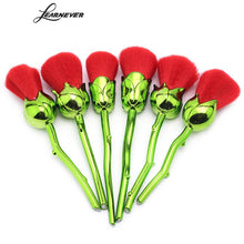 Load image into Gallery viewer, New 6pcs Red Rose Flower Brushes Powder Foundation Beauty And The Beast Enchanted Rose Make Up Brushes