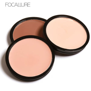 FOCALLURE 4 Colors Makeup Bronzer Highlighter Contour Shading Powder Trimming Powder Make Up Cosmetic Face Concealer Palette