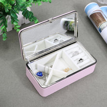 Load image into Gallery viewer, Simple PU Jewelry Storage Box Portable Earrings Ring Organizer Case Portable Makeup Jewelry Container Gifts Box Organizer