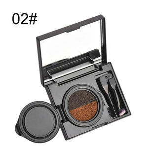 BEEZAN Double Color Air Cushion Eyebrow Cream Waterproof Smudge-proof Gel Eyeliner Eyebrow Beauty Makeup Enhancer With Brush New