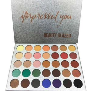 35 Color New Face Makeup Shimmer Glitter Eyeshadow Palette Highlight Shadow Pressed Powder Beauty Makeup Maquiagem Eyshadow