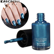Load image into Gallery viewer, 15ml Magnetic Cat Eye Nail Polish Salon 3D Nails Gel Lacquer Magnet 10 Beautiful Color With Magnetic Model For Manicure Art