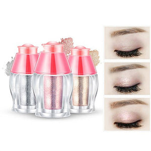 3pcs Shimmer Powder Highlighter Eye Makeup Kit Highlighter Eye Shadow Shimmer Makeup Powder Professional Blush Concealer and Eye Enhancer Glitter Pigments Eyeshadow Palette