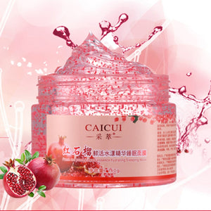 Sleep Mask Pomegranate Essence Hydrating Face Masks Anti Wrinkle Anti Aging Moisturizing Whitening Skin Care Smooth Clay Mask