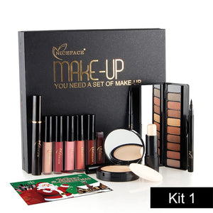 Best Christmas gift !6 in 1 Makup Tool Kit Make up  Concealer  makeup palette Cosmetics Including Eyeshadow Eyeliner mascara Matte Lipstick Makeup Set