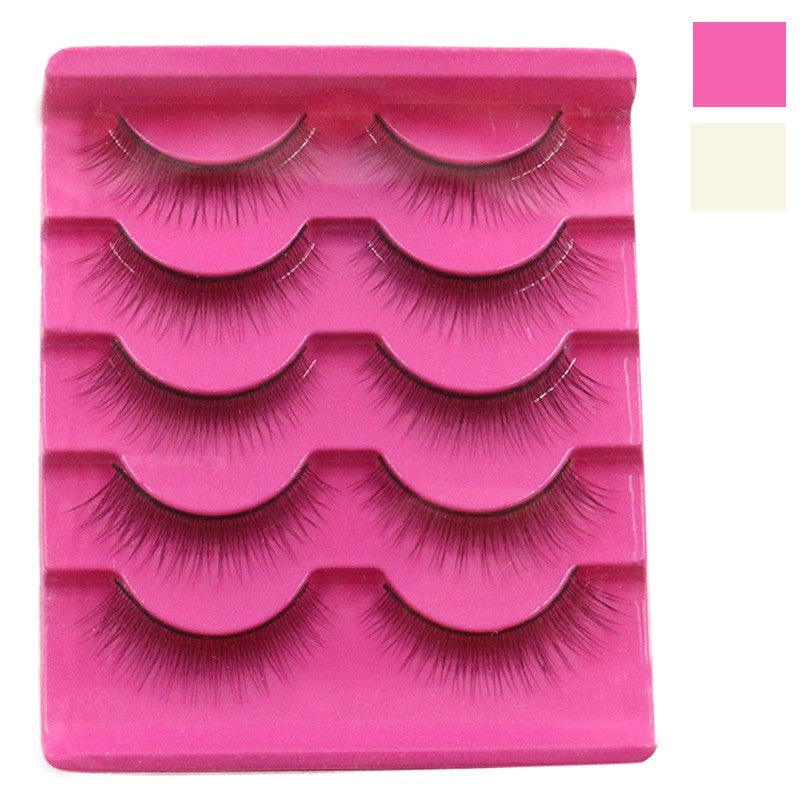 5 Pair Handmade  Natural  False Eyelashes