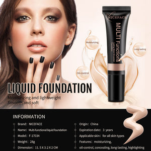 NICEFACE Makeup Liquid Foundation Moisturizing Waterproof Concealer BB Cream