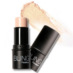 Focallure Face Waterproof Shimmer Highlighter Stick Bronzers Highlighter Powder Creamy Texture Silver Gold Light Face Makeup