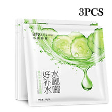 Load image into Gallery viewer, 2017 New Bing Ju Brand Skin Care Wrapped Oil-control Mask for Women Men Whitening 3pcs Cucumber Moisturizing Face Masks