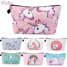Load image into Gallery viewer, FENGRISE Unicorn Cosmetic Bags 3D Printing Girls Lady Makeup Bags Unicorn