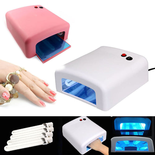 New Pro Nail Polish Dryer Lamp 36W LED UV Gel Acrylic Curing Light Spa Kit With 4 Tubes For Girl Lady Nail Art Makeup Tool  FM88