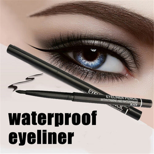 Women Waterproof Retractable Rotary Eyeliner Pen Eye Liner Pencil  Cosmetic Tool