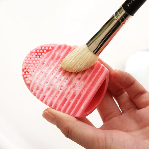 Silicone Mini Handheld Washboard Makeup Brush Cleaner Scrubber Tool