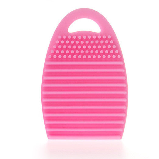 Silicone Mini Handheld Washboard Makeup Brush Cleaner Tool with Hanger