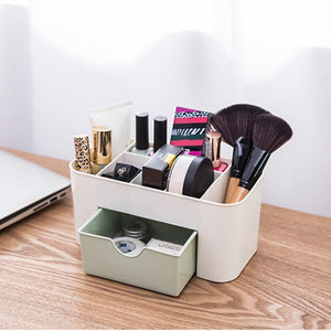 6 Grid Makeup Organizer Storage Box Brush Holder Jewelry Organizer Case Makeup Holder Cosmetic Storage Case