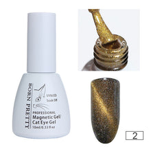 Load image into Gallery viewer, BORN PRETTY Holographic Chameleon Cat Eye Nail Gel 5ml Magnetic Soak Off UV Gel Manicure Nail Art Varnish Black Base Needed
