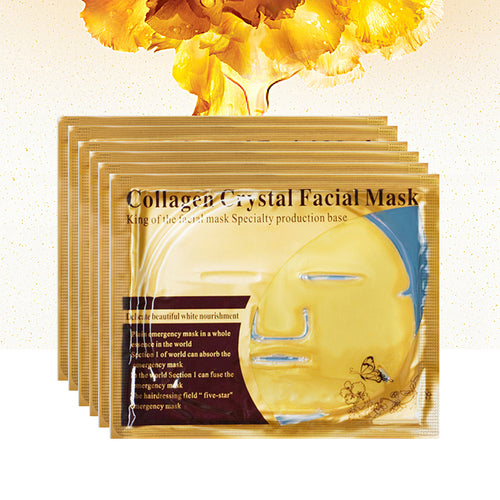 Skin Care Gold Masks Collagen Face Sheet Mask Moisturizing Whitening Anti Wrinkle Crystal Face Mask Acne Treatment Oil Control