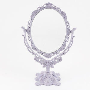 Makeup Mirror Desktop Rotatable Gothic Mirror Butterfly Rose Decor Beauty Tool Cute Color For Girl Birthday Gift FM88