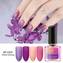 Load image into Gallery viewer, BORN PRETTY Color Changing Nail Polish 6ml Champs Elysees Series Peel Off Sunlight Sensitive Thermal Nail Polish