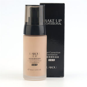 Whitening Coverage Fluid Liquid Foundation Concealer Moisturizer Oil-control Long Lasting Waterproof Makeup Cosmetics