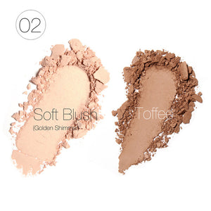 Focallure 2-Color Pressed Powder Blush Blusher Makeup Palette