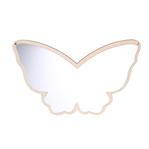 Wooden Safety Butterfly Mirror
