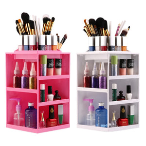 360 Degree Rotating  Make up Organizer Cosmetic Display Brush Lipstick Storage Storage Box Hot Selling