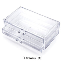 Load image into Gallery viewer, CHOICE FUN Fancy Large Plastic Transparent Cosmetics Makeup Box Case Clear Make Up Desk Drawer Storage box
