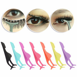 1PC Steel False Eyelash Makeup Tweezer Fake Eye Lash Applicator Clip Makeup Tool
