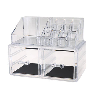 Crystal Acrylic Cosmetic Organizer Box Makeup Display Storage Box Rack Holder