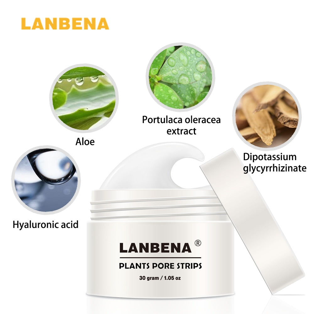 LANBENA Nose Care Blackhead Remove face mask Treatment T Zone Deep Clean Pore Strip Cream Skin Care