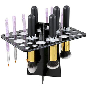 26 Holes Makeup Brush Tree Brush Dryer Holder Makeup Tool