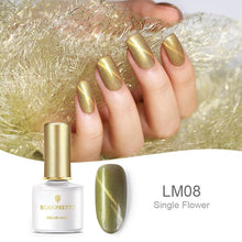 Load image into Gallery viewer, BORN PRETTY Shell Mermaid Cat Eye Nail Gel 3D Magnetic Glitter UV Gel Lacquer Soak Off Gel Nail Art Nail Polish Gel