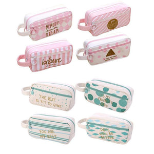Cactus Pastoral Bandage Canvas Pencil Case Box Makeup Bag Set