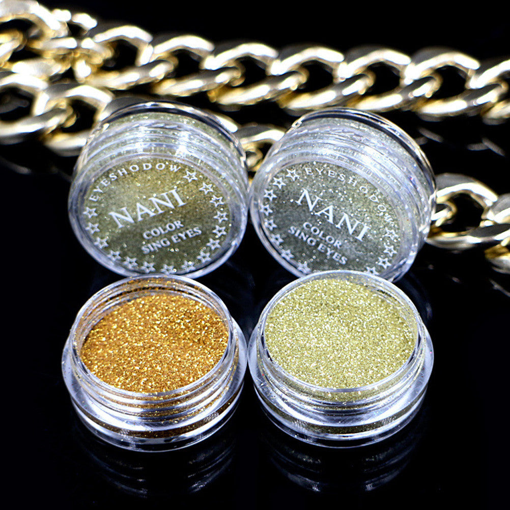 4pcs Mineral Single Eyeshadow High Pigmented Shimmer Glitter Metallic Eyeshadow