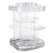 Load image into Gallery viewer, Diamond Transparent Design Clear 360 Degree Rotation Desktop Storage Box Organizer Multi-functional Makeup Beauty Organizer
