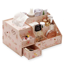 Load image into Gallery viewer, Hoomall Wood Drawer Organizer Cosmetic Storage Organizer Box Casket  DIY Wooden Storage Box Makeup Organizer Jewelry Container