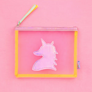 Cartoon Girls Makeup Bag Harajuku Colorful Laser Transparent Pencil Case Women Cosmetic Organizor  Pouch Beauty