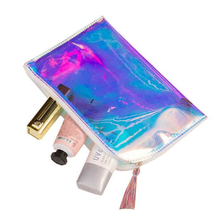 Hoomall Womens Makeup Bag Hologram Laser Cosmetic Cases Lady Storage Beauty Pouch Holographic Transparent PVC Cosmetic Bags