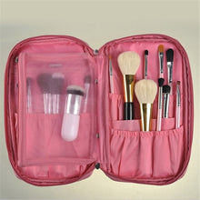 Load image into Gallery viewer, Oxford cloth Women makeup brushes Zipper Makeup Bag Ladies Comestic Travel Storage Bag Makeup tool kits