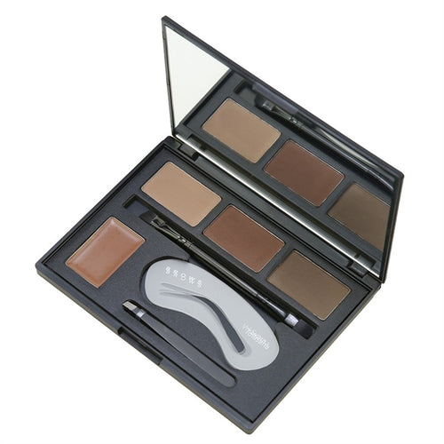 4 Piece Eyebrow Makeup Palette 4 Eyebrow Powder Paste Set Flawless Face Makeup Cosmetic Palette
