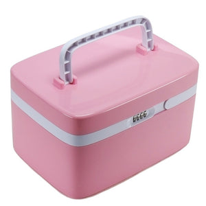 Storage Box Password Lock Housekeeping Home Storage Organization Makeup Organizer Desk Accessories & Organizer Container