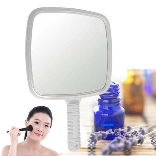 Ladies Hand Held Rectangle Mirror Makeup Beauty Dresser