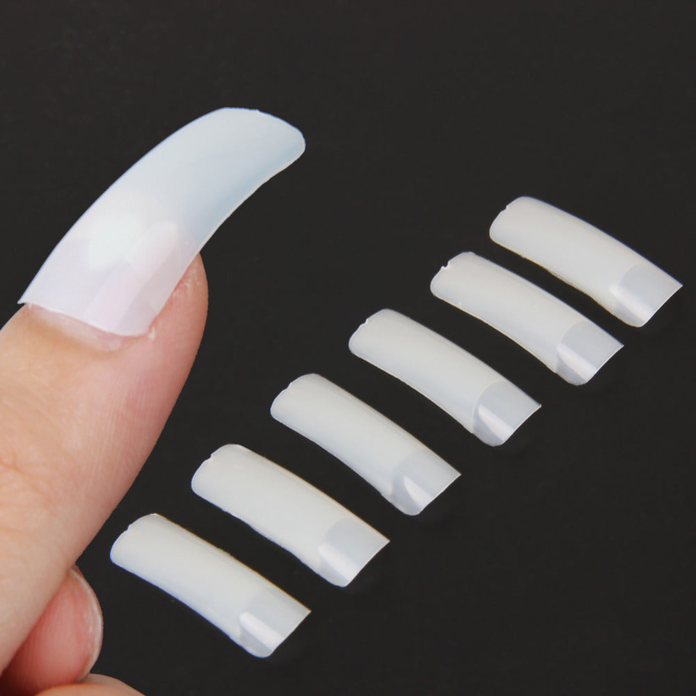 500Pcs False Nail Tips Art Design Tips Full Cover Nude White French Acrylic Polish UV Gel Sticker Salon Design Manicure Tools
