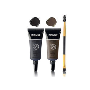 Two-Color Liquid Eyebrow Cream Mascara Waterproof Tint Eyebrow Gel Makeup Eyebrow Enhancer With Eyebrows Paint Brush