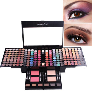MISS ROSE Piano Shaped Makeup Eyeshadow Palette Case 180 Color Makeup Set Matte Shimmer Blush Powder with Brush